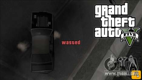 GTA V Wasted and Busted Sound [CLEO] for GTA San Andreas