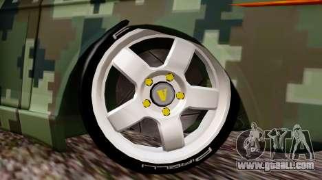 Peykan Javanan Drift for GTA San Andreas back left view