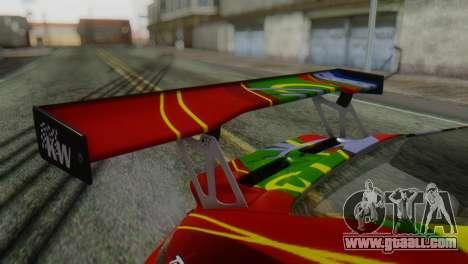 Porsche 911 GT3-RSR for GTA San Andreas back view