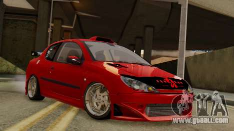 Peugeot 206 SD Coupe Tuning for GTA San Andreas