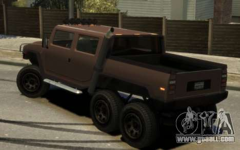 Mammoth Patriot 6x6 for GTA 4 left view