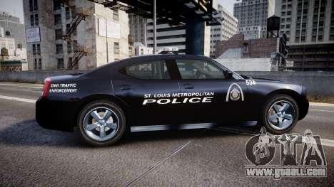 Dodge Charger Metropolitan Police [ELS] for GTA 4 left view