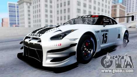 Nissan GT-R (R35) GT3 2012 PJ2 for GTA San Andreas inner view