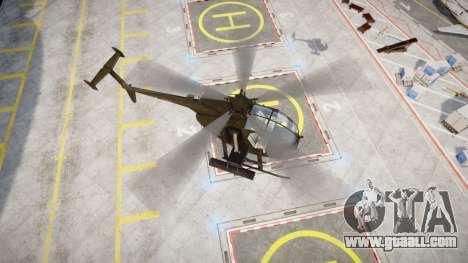AH-6 Little Bird for GTA 4 back left view