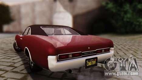 GTA 5 Imponte Dukes IVF for GTA San Andreas left view