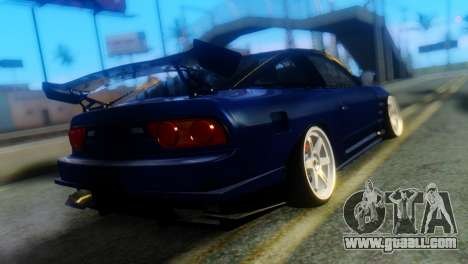 Nissan 180SX Uras Bodykit for GTA San Andreas left view