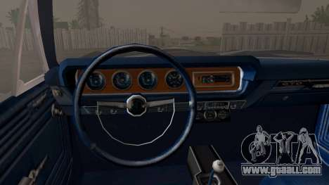 Pontiac GTO Black Rock Shooter for GTA San Andreas right view
