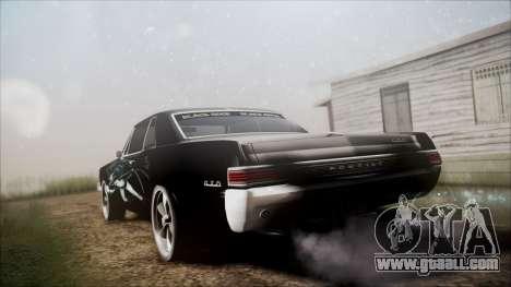 Pontiac GTO Black Rock Shooter for GTA San Andreas left view