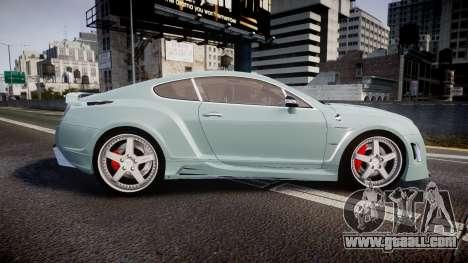 Bentley Continental GT Platinum Motorsports for GTA 4 left view