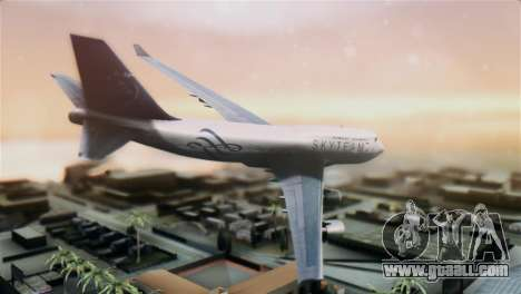 Boeing 747-400 Garuda Indonesia Sky Team for GTA San Andreas left view