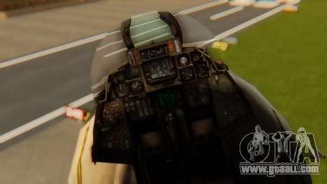 F-14A Tomcat VF-202 Superheats for GTA San Andreas back view