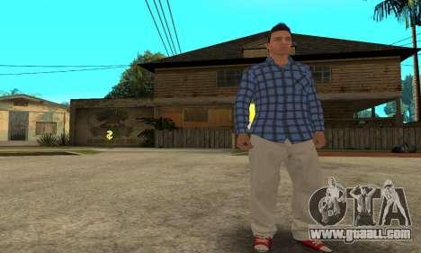 Skin Claude [HD] for GTA San Andreas fifth screenshot