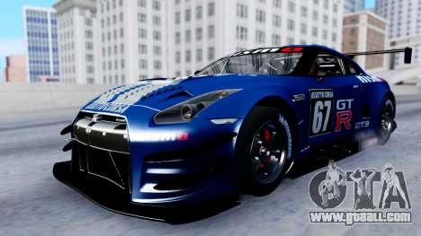 Nissan GT-R (R35) GT3 2012 PJ2 for GTA San Andreas upper view