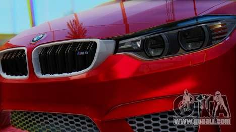 BMW M4 2015 HQLM for GTA San Andreas right view