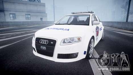 Audi RS4 Serbian Police [ELS] for GTA 4