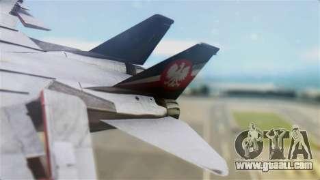 F-14D Super Tomcat Polish Navy for GTA San Andreas back left view