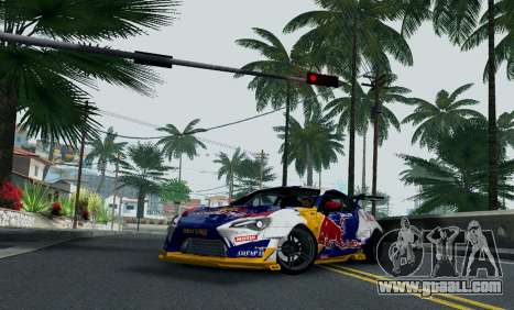 Toyota GT86 Red Bull for GTA San Andreas right view