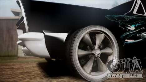 Pontiac GTO Black Rock Shooter for GTA San Andreas back left view