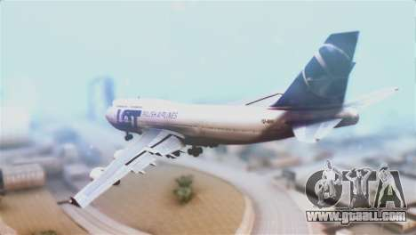 LOT Polish Airlines Boeing 747-400 for GTA San Andreas left view