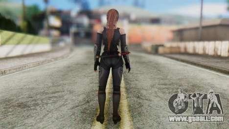 Dead Or Alive 5 Kasumi Ninja Black Costume for GTA San Andreas third screenshot