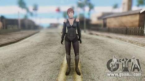 Dead Or Alive 5 Kasumi Ninja Black Costume for GTA San Andreas second screenshot