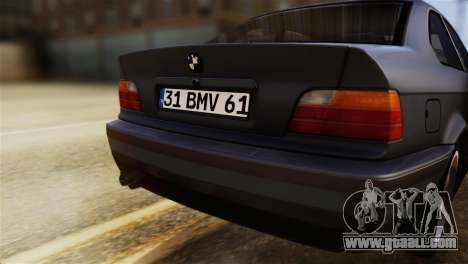 BMW 320i for GTA San Andreas back view
