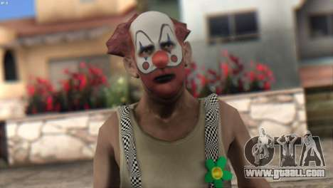 Clown Skin from Left 4 Dead 2 for GTA San Andreas third screenshot