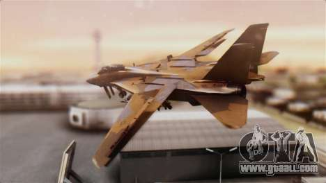 F-14A Tomcat NSAWC Brown for GTA San Andreas left view