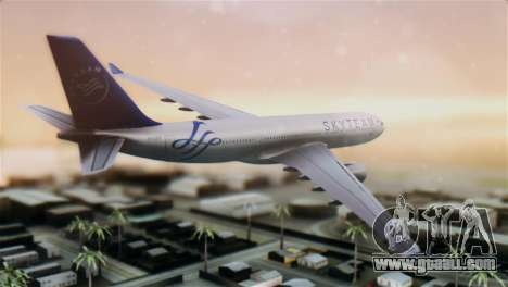 Airbus A330-200 Garuda Indonesia Sky Team for GTA San Andreas left view