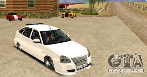 VAZ 2172 Tuning for GTA San Andreas back left view