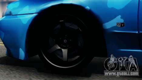 Nissan Skyline R32 Camo Drift for GTA San Andreas back left view