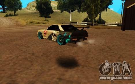 Nissan Skyline R32 RLD for GTA San Andreas back left view