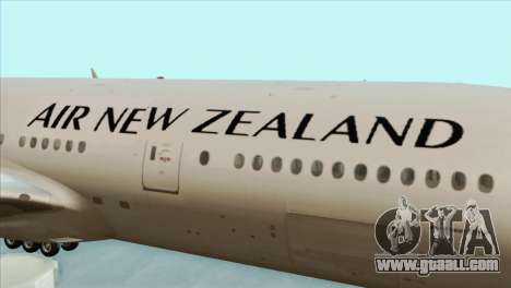 B777-200ER Air New Zealand Black Tail Livery for GTA San Andreas back view