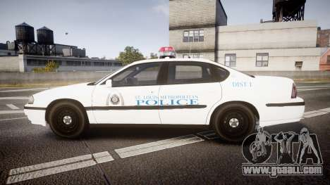 Chevrolet Impala Metropolitan Police [ELS] Pat for GTA 4 left view
