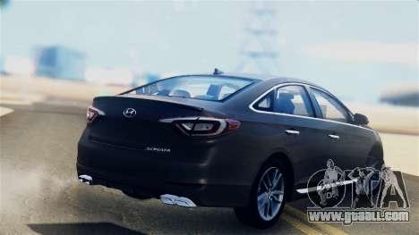 Hyundai Sonata 2015 for GTA San Andreas left view