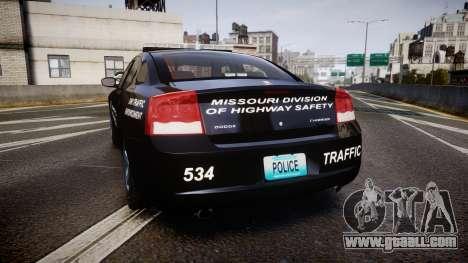 Dodge Charger Metropolitan Police [ELS] for GTA 4 back left view