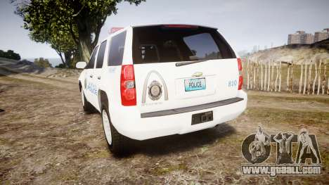 Chevrolet Tahoe Metropolitan Police [ELS] for GTA 4 back left view