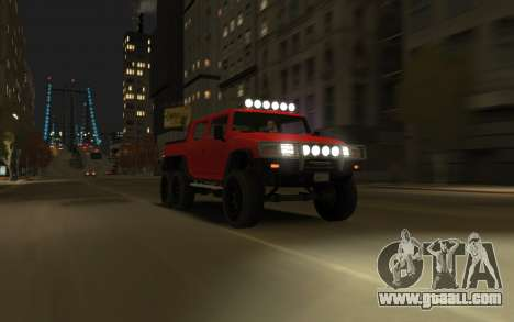Mammoth Patriot 6x6 for GTA 4 back left view