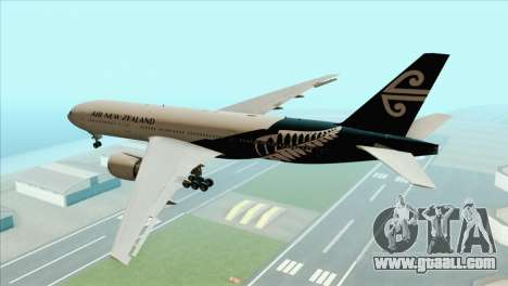 B777-200ER Air New Zealand Black Tail Livery for GTA San Andreas left view