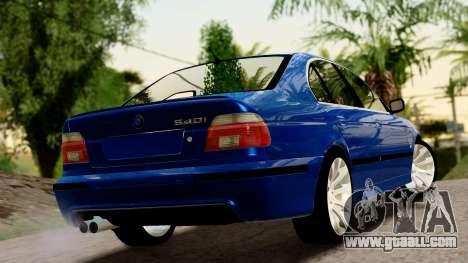 BMW 540i E39 for GTA San Andreas left view
