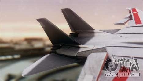 F-14D Tomcat Macross Red for GTA San Andreas back left view