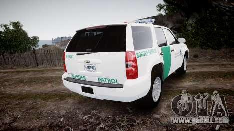 Chevrolet Tahoe Border Patrol [ELS] for GTA 4 back left view