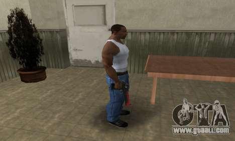 Red Tiger Deagle for GTA San Andreas third screenshot