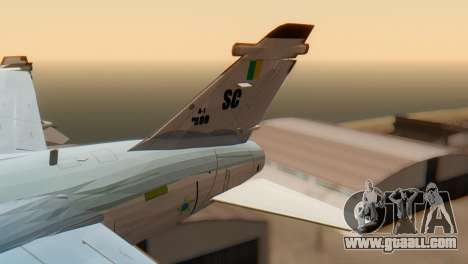 Embraer A-1 AMX FAB for GTA San Andreas back left view