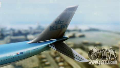 Airbus A330-200 KLM New Livery for GTA San Andreas back left view