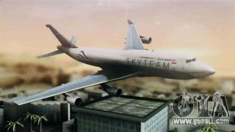 Boeing 747-400 Garuda Indonesia Sky Team for GTA San Andreas