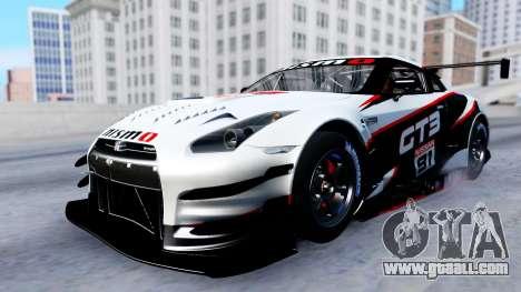 Nissan GT-R (R35) GT3 2012 PJ2 for GTA San Andreas bottom view