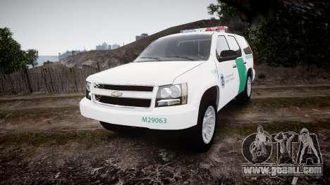 Chevrolet Tahoe Border Patrol [ELS] for GTA 4