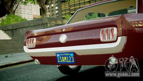Ford Mustang 1965 for GTA 4 right view