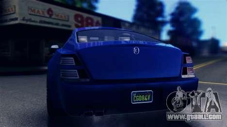 GTA 5 Enus Windsor IVF for GTA San Andreas back left view